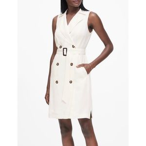 NWT White trench dress